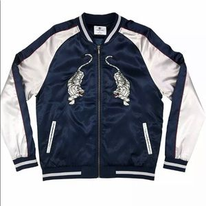 Standard Issue Embroidered Tiger Satin Jacket
